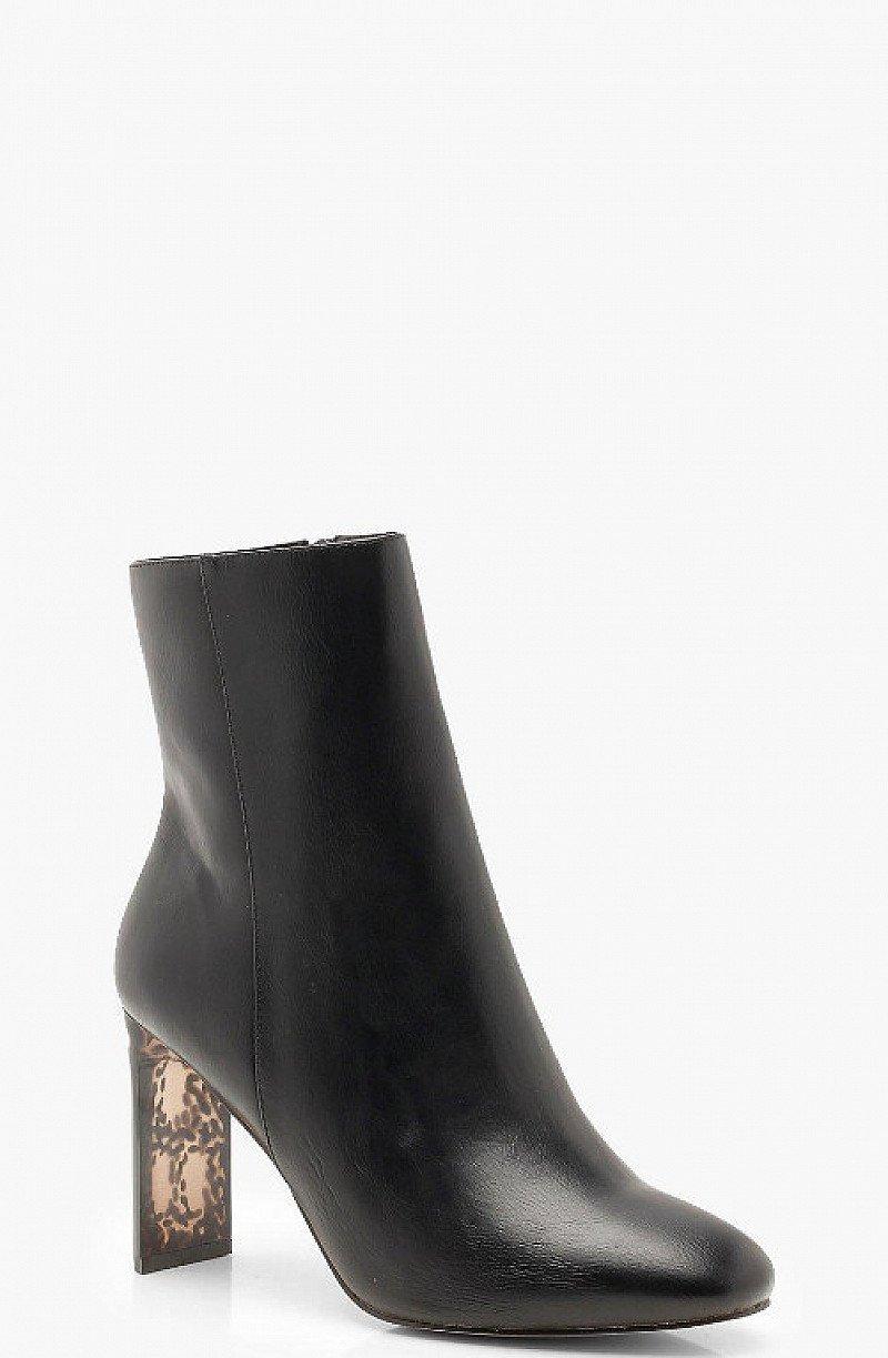 SAVE 30% - Tortoise Shell Heel Shoe Boots