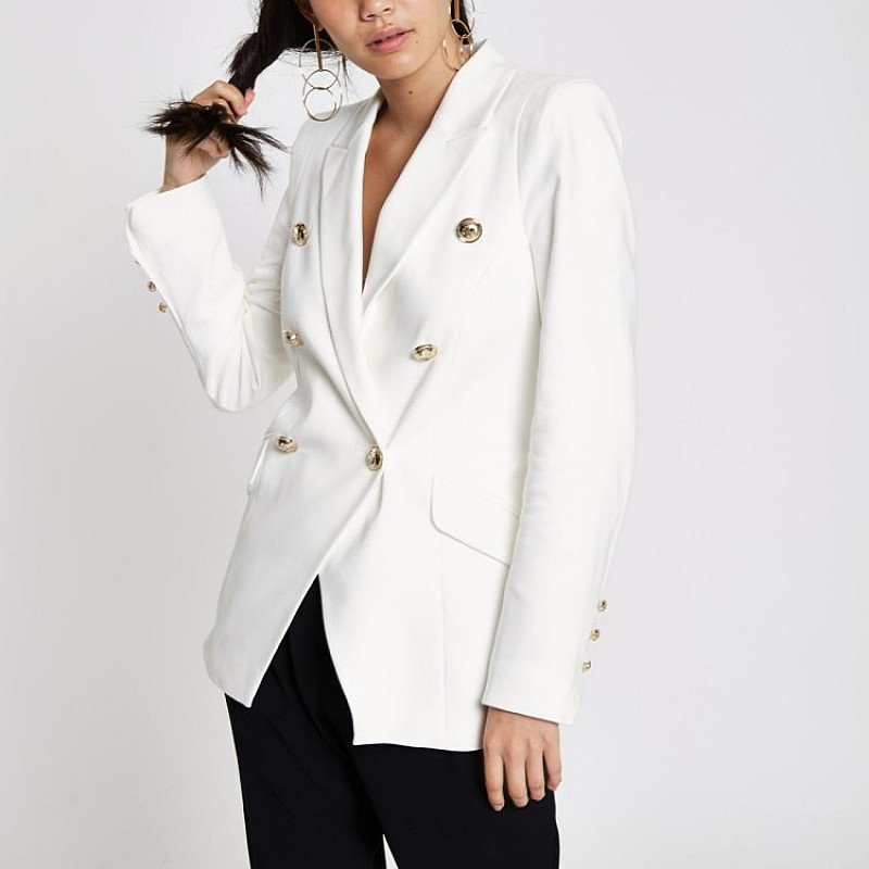 SALE ITEMS - White double breasted tux jacket!