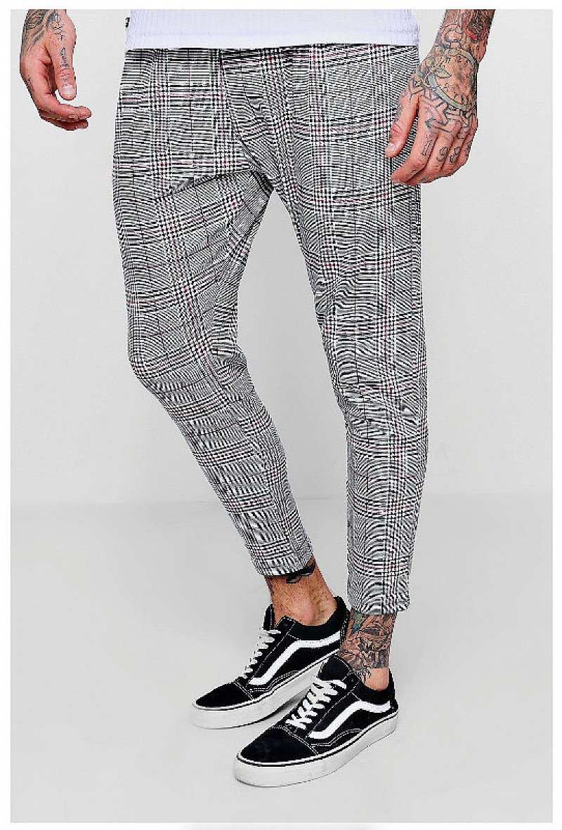 20% OFF - Prince Of Wales Red Check Smart Jogger!