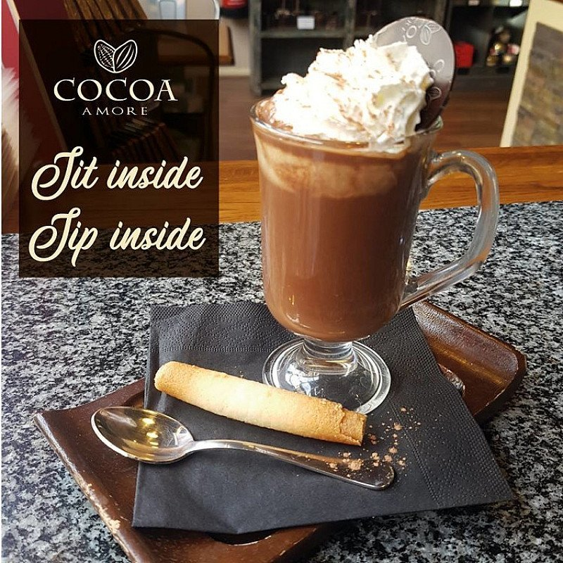 Feeling the chill? Enjoy a smooth, warming cup of our delicious Sipping Chocolate Special