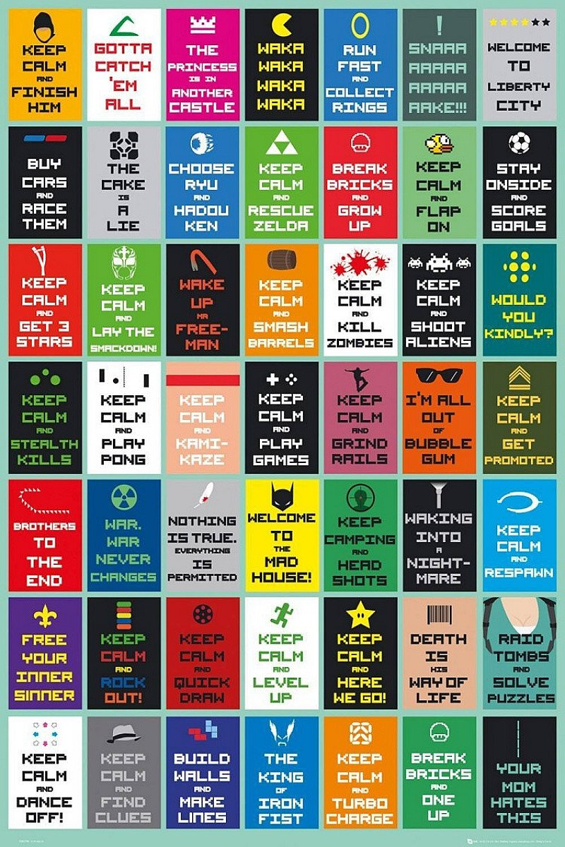 SALE: SAVE £2.99 - KEEP CALM GAMING NEW MAXI POSTER!