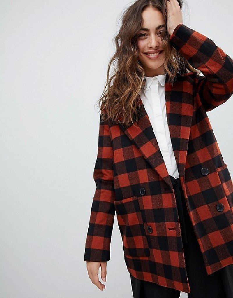 20% OFF ALL NEW ITEMS - Monki Checked Double Breasted Jacket!