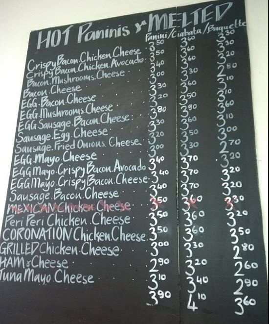 Come in for a hot panini