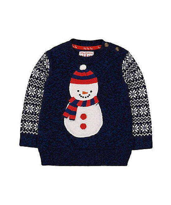 Christmas at Mothercare - navy snowman christmas jumper £13.50!