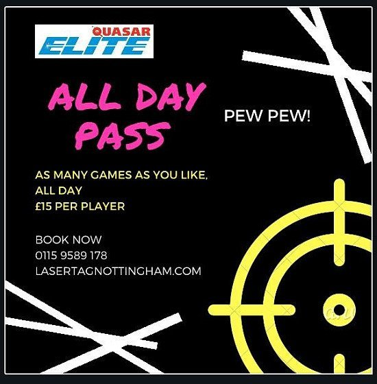 NEW DAY PASS - £15.00 All-Day!