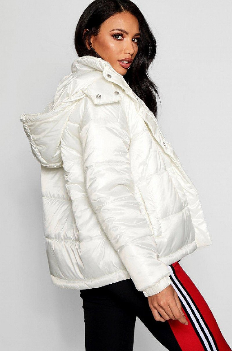 GET 37% OFF - Hooded Cire Puffer Jacket!