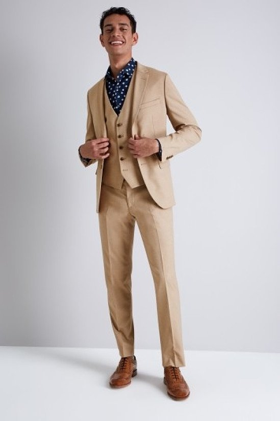 BIG CLEARANCE - Moss London Skinny Fit Cappuccino Suit!
