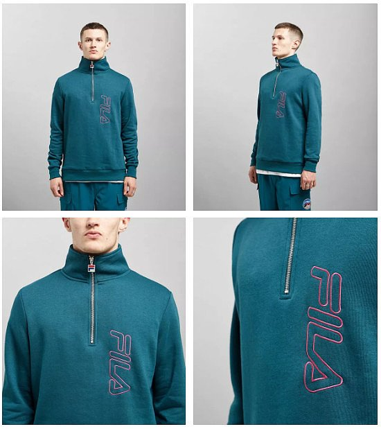 SALE, SAVE 42% - Fila Merano Half Zip Sweatshirt!