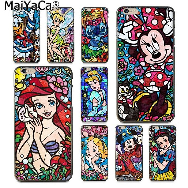 DISNEY Phone Case for iPhone 8 7 6 6S Plus X 5 5S SE XS XR XS MAX
