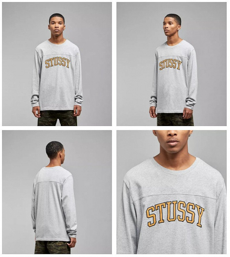 SAVE 10% - Stussy Kent Football Long Sleeved T-Shirt!