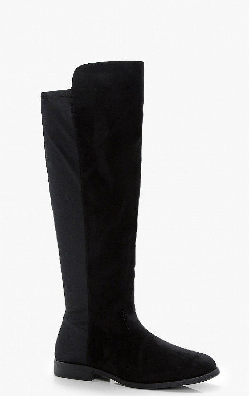 SALE, SAVE 30% - Stretch Back Flat Knee High Boots!
