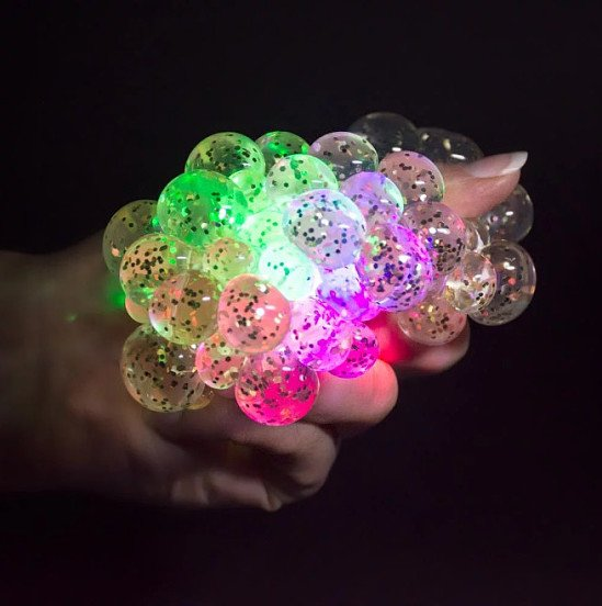 NEW, CHRISTMAS GIFTS - LIGHT-UP SQUASHY STRESS BALL £4.99!