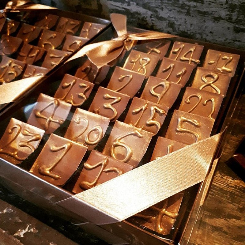 Gold Dusted Advent Calendars