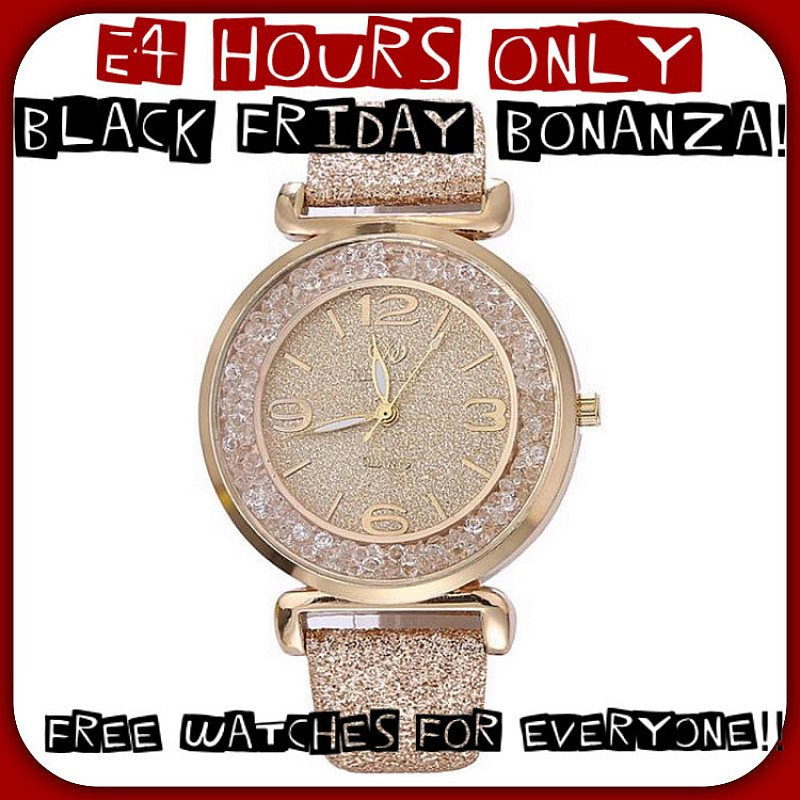 Black Friday Offer - 50% Off and a FREE WATCH when you purchase any 4 items