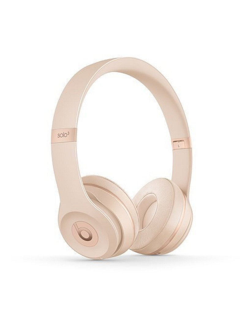 SALE, GET £100.00 OFF - Beats by Dr Dre Solo 3 Wireless Matte Gold Headphones: Icon Collection!