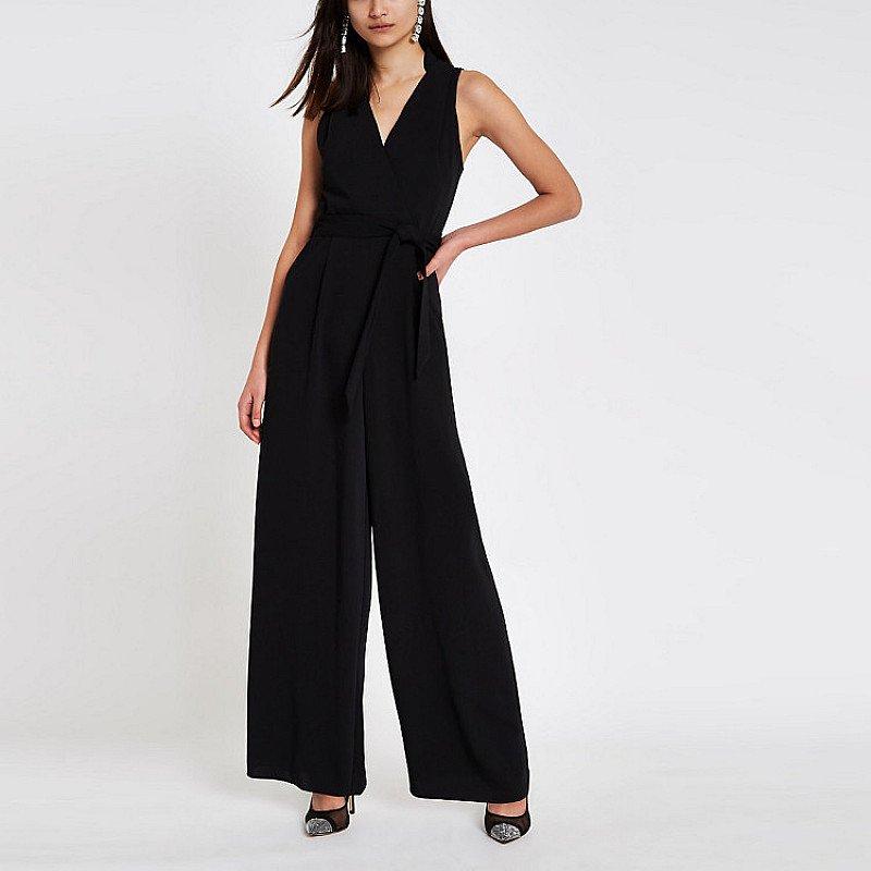 SALE, SAVE £30.00 - Black wrap tie front jumpsuit!