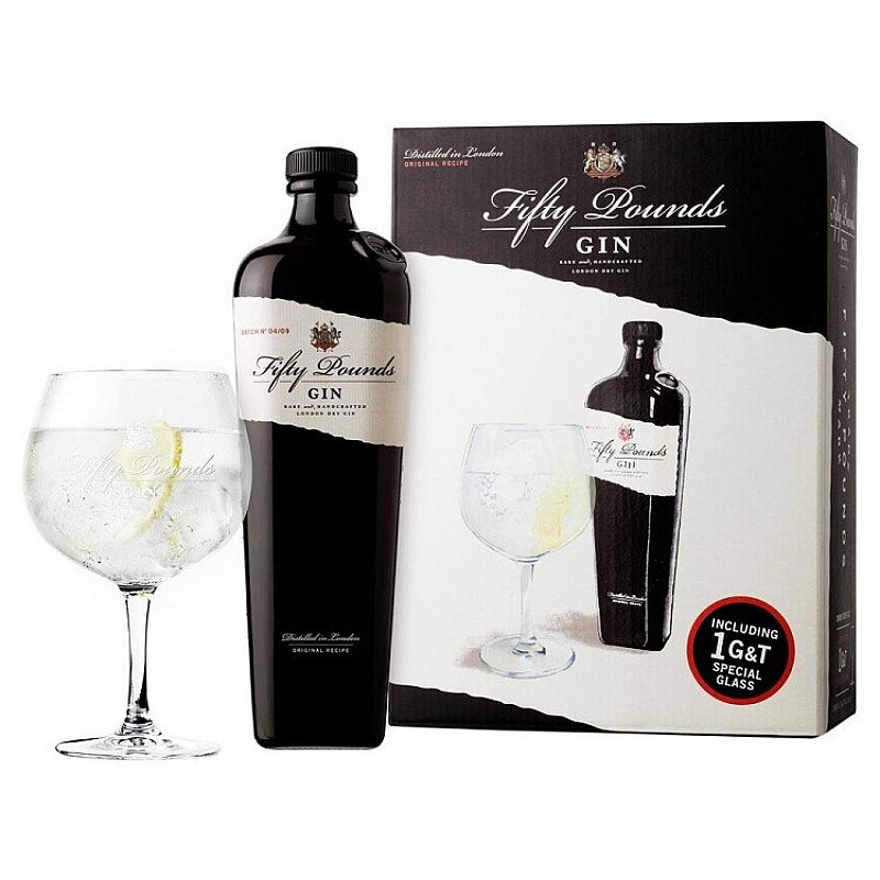 Fifty Pounds - Gin Single Glass Pack: £35.85!