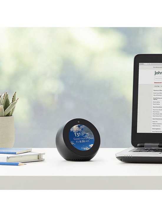 CHRISTMAS GIFTS FOR HIM: SAVE £30.00 - Amazon Echo Spot Smart Speaker Alexa Voice Recognition!