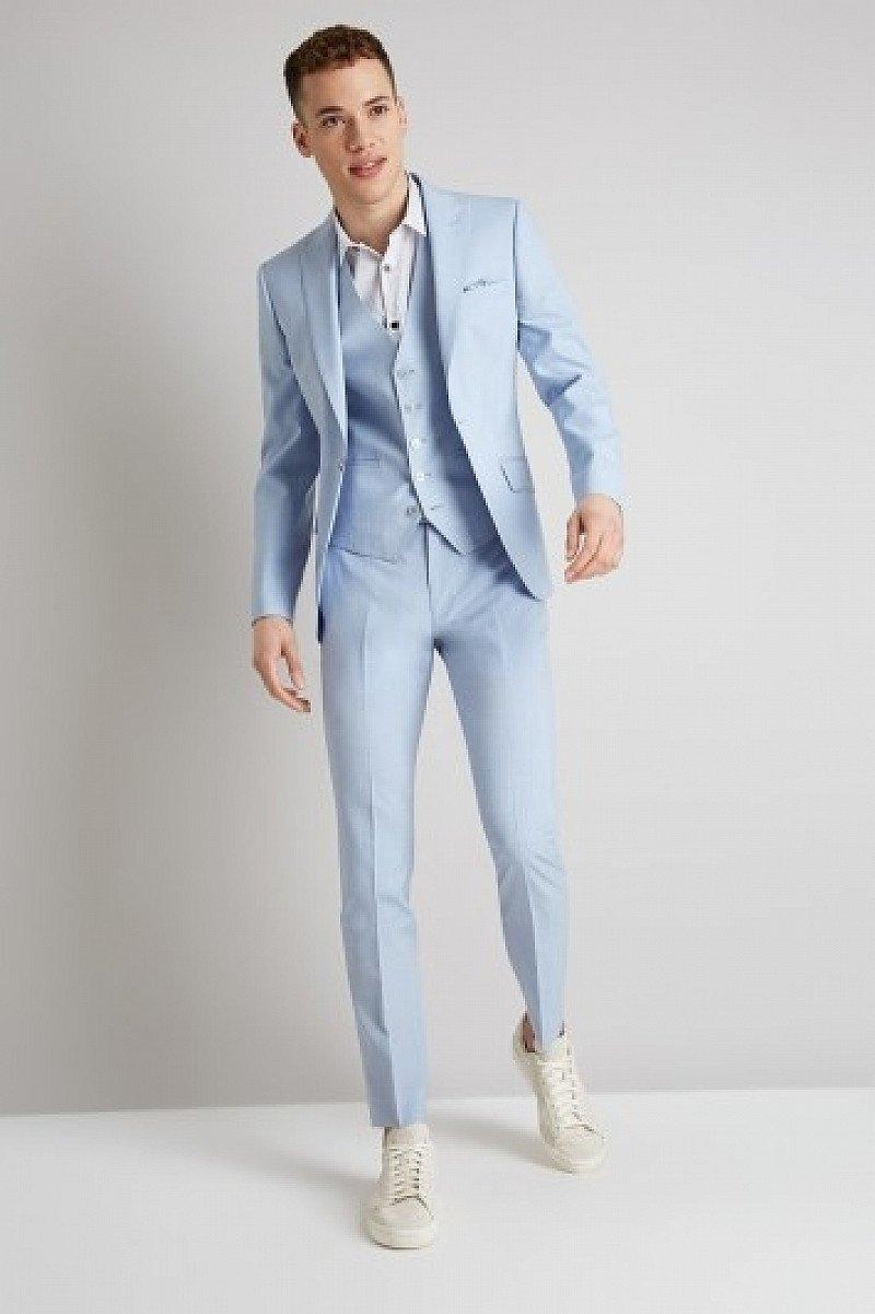 HUGE WINTER SALE - Moss London Skinny Fit Glacier Blue Suit!