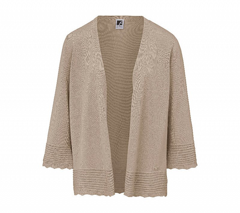 Save- Cardigan in open-fronted A-line style