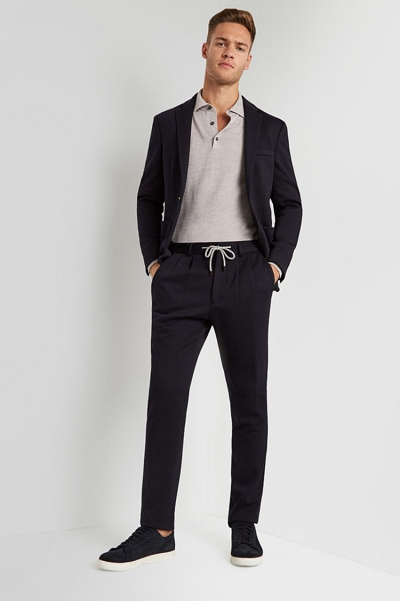 Save- Moss London Skinny Fit Navy Slouch Suit