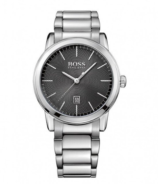 Save- Hugo Boss Classic men's black dial stainless steel watch