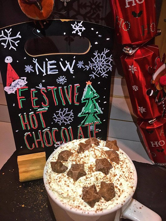 OUT NOW: our brand new Festive Hot Chocolates, only £3.50 each!