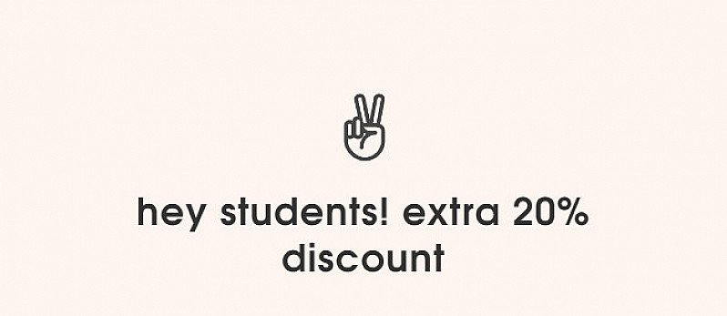 hey students! extra 20% discount
