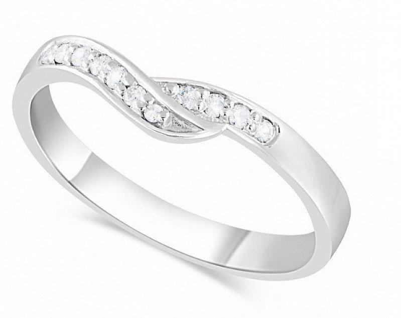 SALE- Ladies' Platinum 0.09 Carat Diamond Wedding Ring