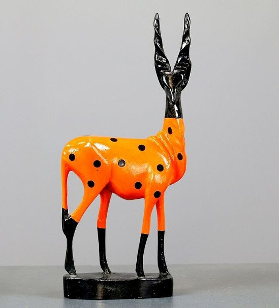 SHOP ONLINE - Wooden Antelope Mid Century Ornament £25.00!