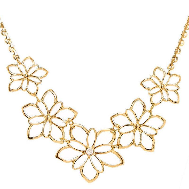 Half Price- Gold Flower Statement necklace