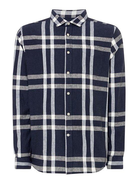 SAVE-HOWICK Linen Bold Check Shirt