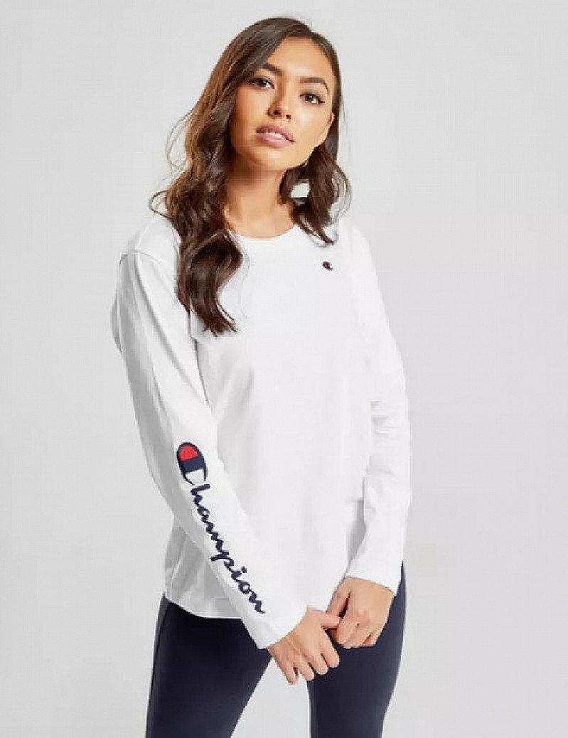 Save- Champion Script Sleeve Long Sleeve T-Shirt