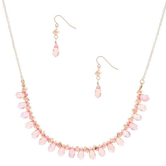 SAVE- Iridescent Bead Jewellery Set - Pink, 2 Pack