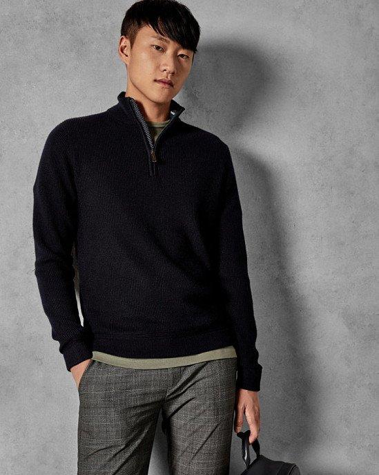 Save- LOHAS Funnel neck wool-blend jumper