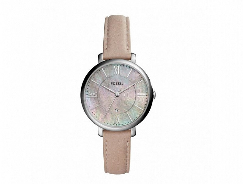 Save- Fossil Jacqueline Ladies' Pink Mother of Pearl Pink Strap Watch