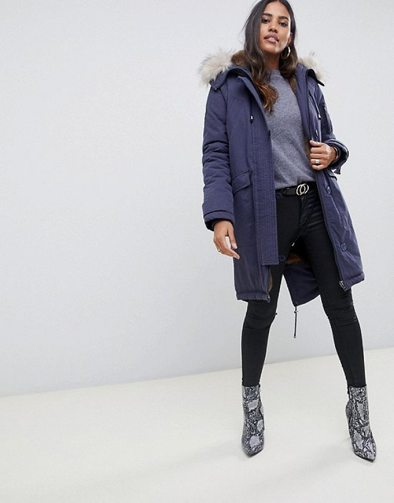 SAVE ON WINTER SALE ITEMS - ASOS DESIGN luxe parka with faux fur trim!