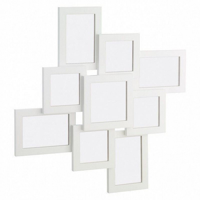 BIG SAVINGS ON HOME ACCESSORIES - Wilko White Multi Aperture Photo Frame!