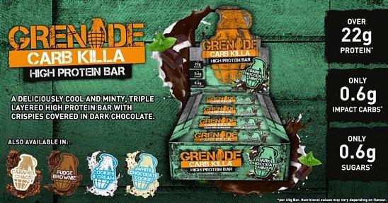 Grenade Carb Killa Bars - ONLY £20 a BOX!
