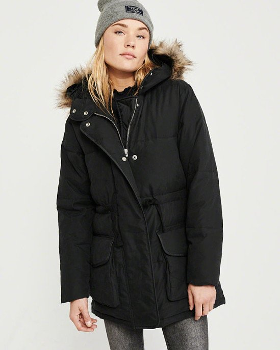 SALE, SAVE £72.00 - FAUX FUR HOODED PUFFER!