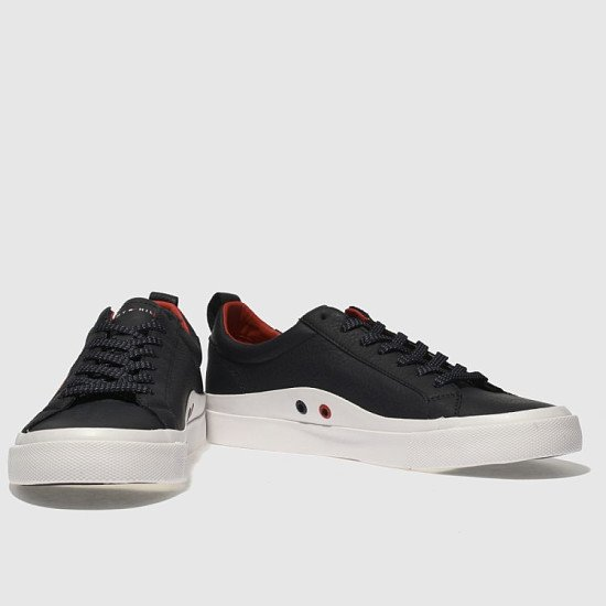 SALE, SAVE 35% - Tommy Hilfiger Navy & White Flag Detail Sneaker Trainers!