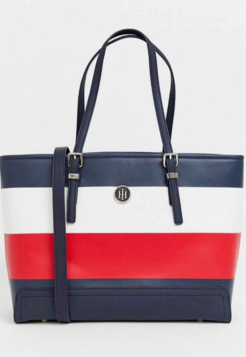 SALE, SAVE ON BAGS - Tommy Hilfiger stripe tote bag!