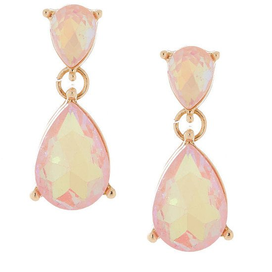 SALE, SAVE ON JEWELLERY - Teardrop Drop Earrings - Peach!