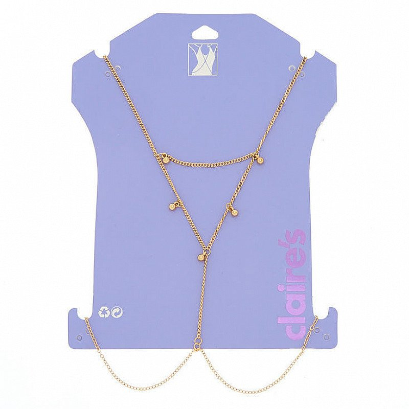 SALE, SAVE ON BODY ACCESSORIES - Gold Beaded Body Chain!