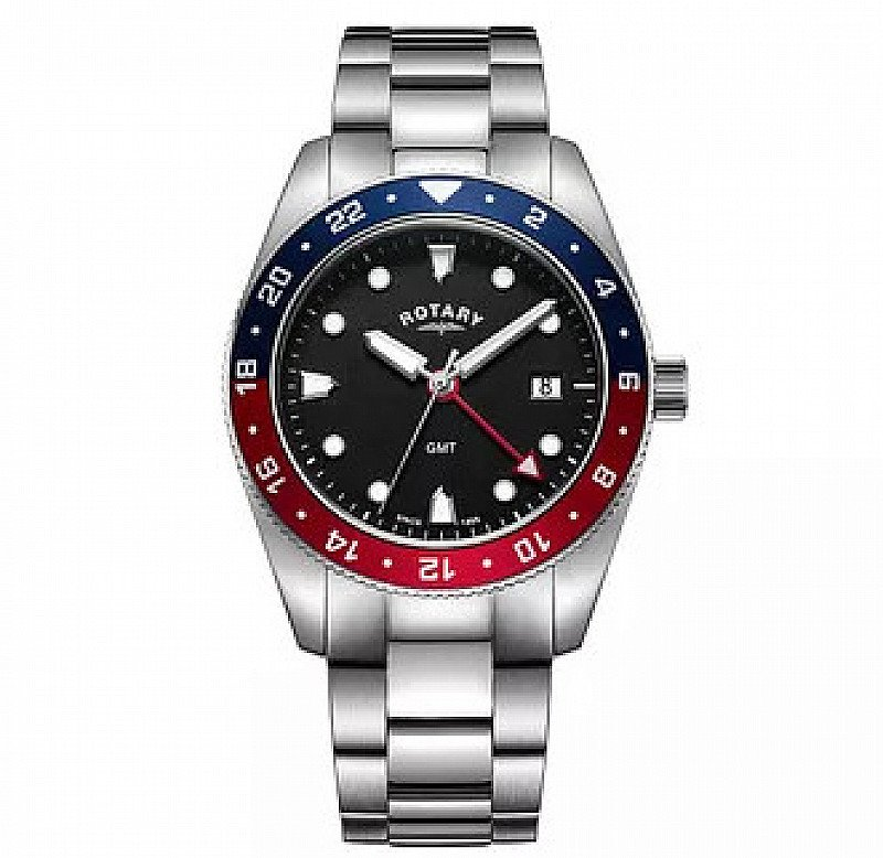 Save- Rotary Men's Stainless Steel Bracelet Watch