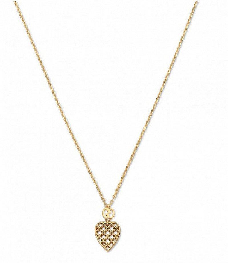 Save- Gucci Diamantissima 18ct Yellow GoldHeart Pendant with Chain