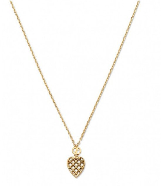 Save- Gucci Diamantissima 18ct Yellow GoldHeart Pendant with Chain