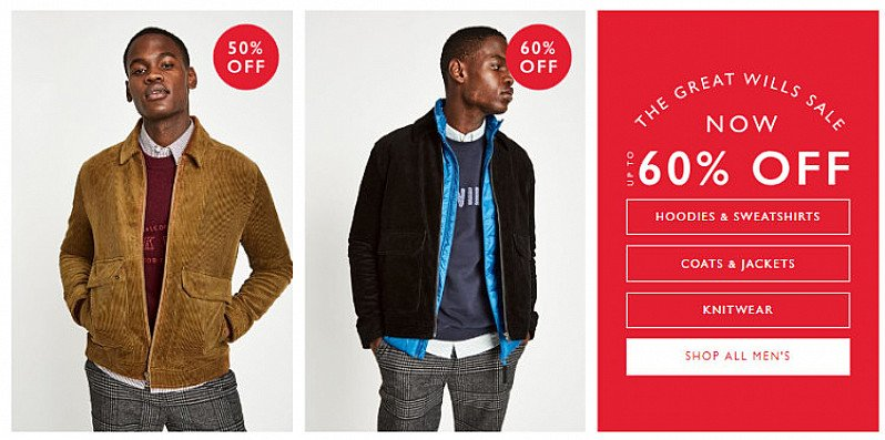 Shop All Men's Sale & Offers with up to 60% OFF!