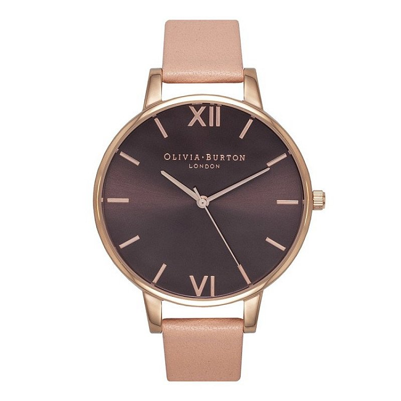 SAVE 25% - OLIVIA BURTON BROWN DIAL DUSTY PINK WATCH!