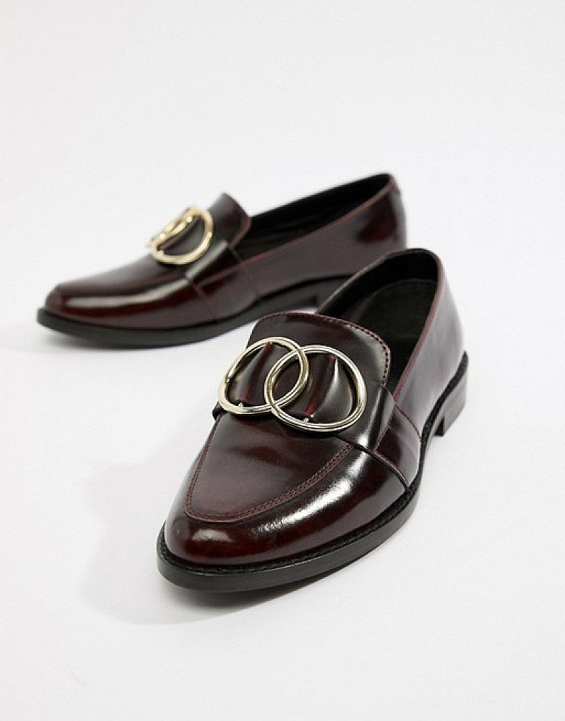 SAVE on these ASOS DESIGN Melbourne leather ring loafer flat shoes!